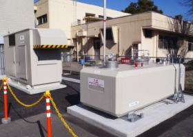 2013年2月設置 鹿児島県鹿児島市 非常用発電用 (A重油:2kl-R型)