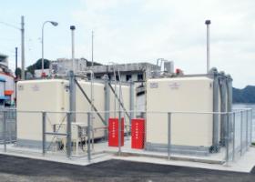 2017年3月設置 高知県安芸郡東洋町 船舶給油取扱所用 津波対策施工(軽油:20kl-R型 A重油:30kl-R型)